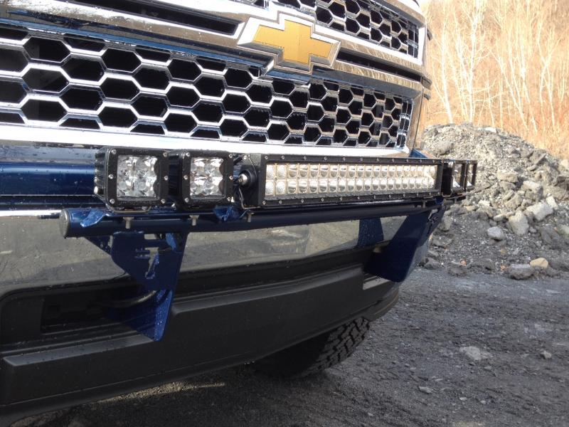 Details About N Fab Inc Light Bar Gloss Black For 03 06 Chevy 1500 2500 3500