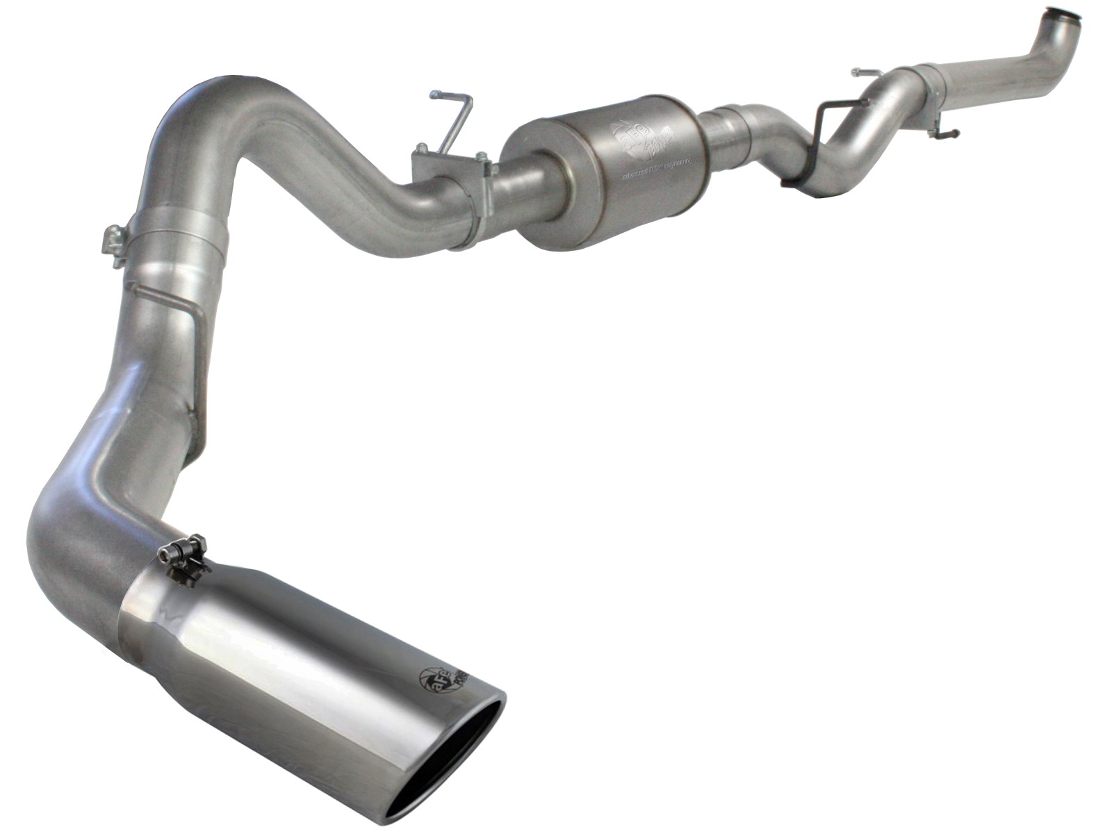"""LLY LBZ,LMM Aluminized with TIP MBRP 4/"""" Exhaust For 01-10 Duramax 6.6L LB7"""