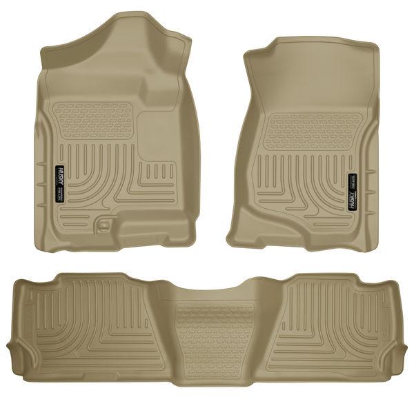 Husky Liners WeatherBeater Tan For 07-14 GM Escalade ESV