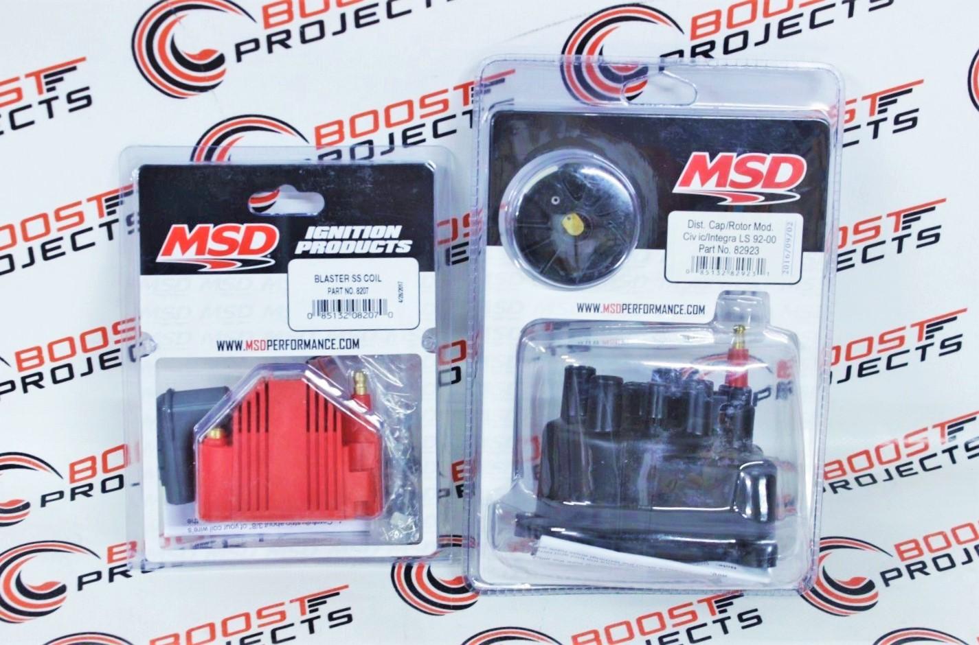 MSD 82923 Distributor Cap And Rotor Kit Brass Terminals Honda Acura