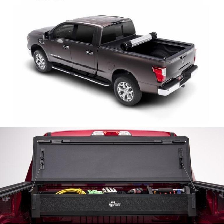 Bak X2 Truck Tonneau Cover W Storage Box For 16 19 Nissan Titan