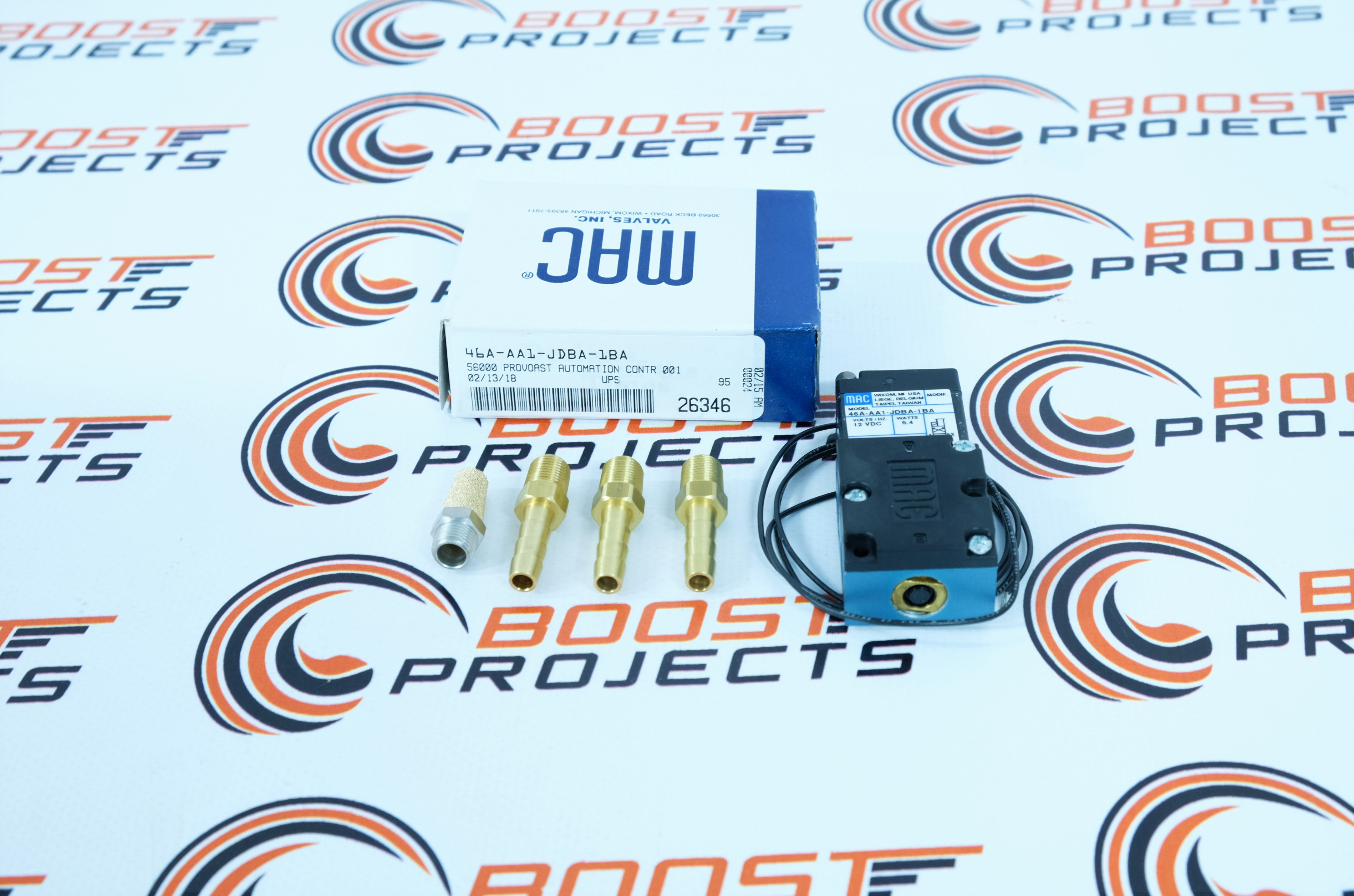 MAC 3 Port 12 volts 5.4W Electronic Boost Control Solenoid Valve W//Barbed Brass Fittings