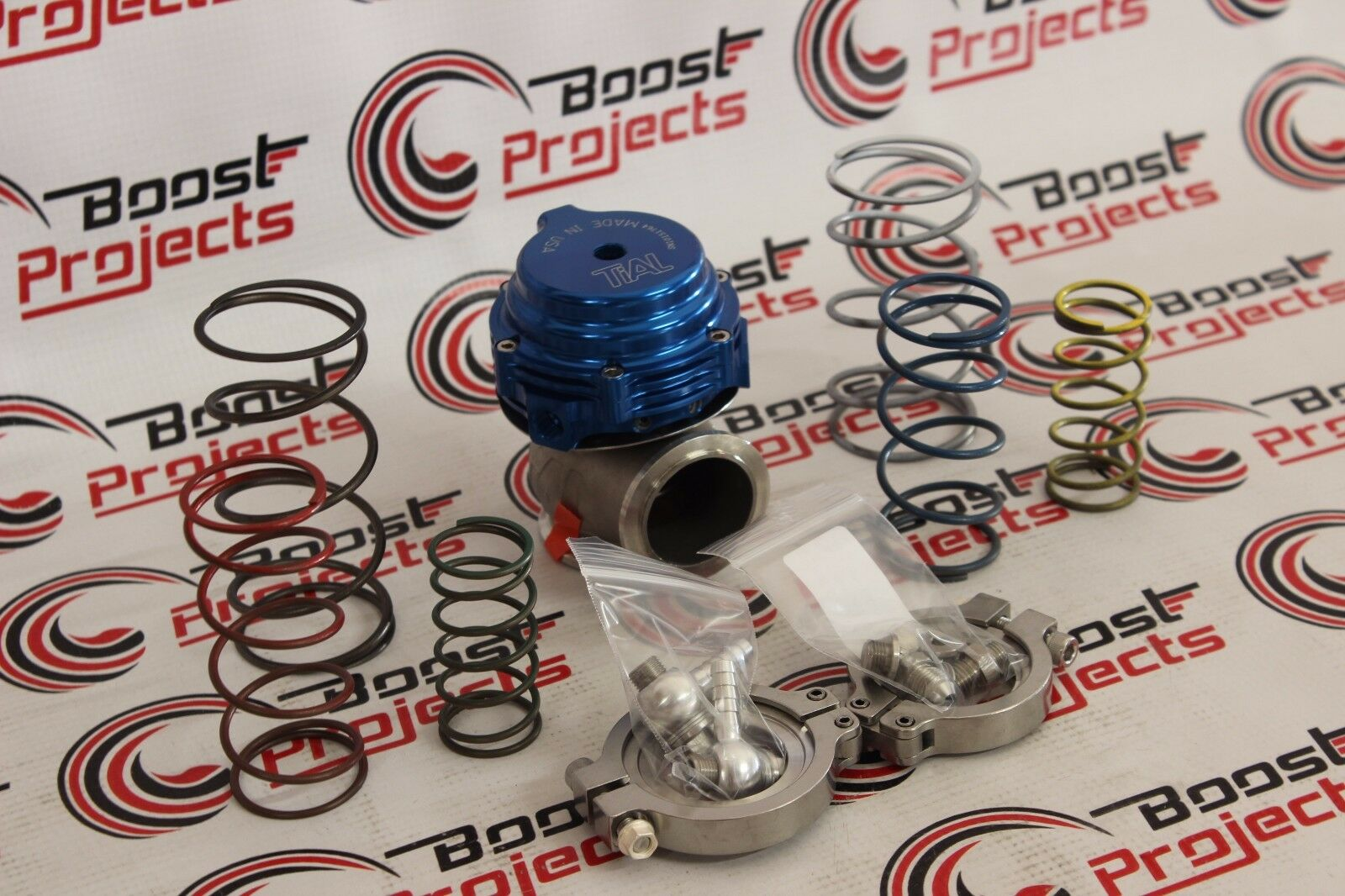 TiAL MVS 38mm Blue WASTEGATE WITH V-BAND AND FLANGES MV-S 002952