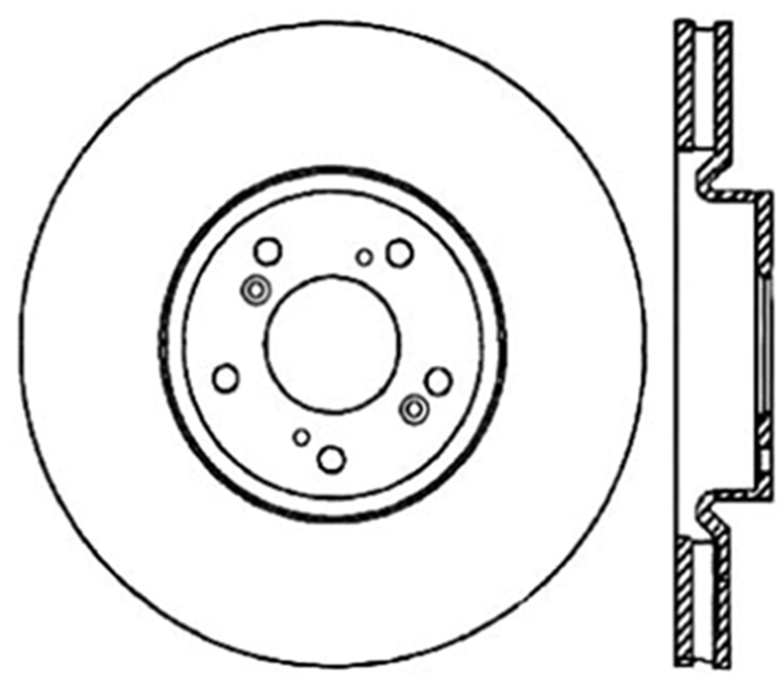 StopTech Disc Brake Rotor Front For 2004