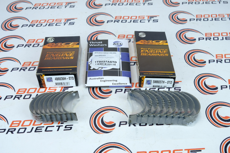 Acl Std Main  U0026 Rod Bearings  U0026 Thrust Washer Set For Mitsubishi 4g91  4g92  4g93