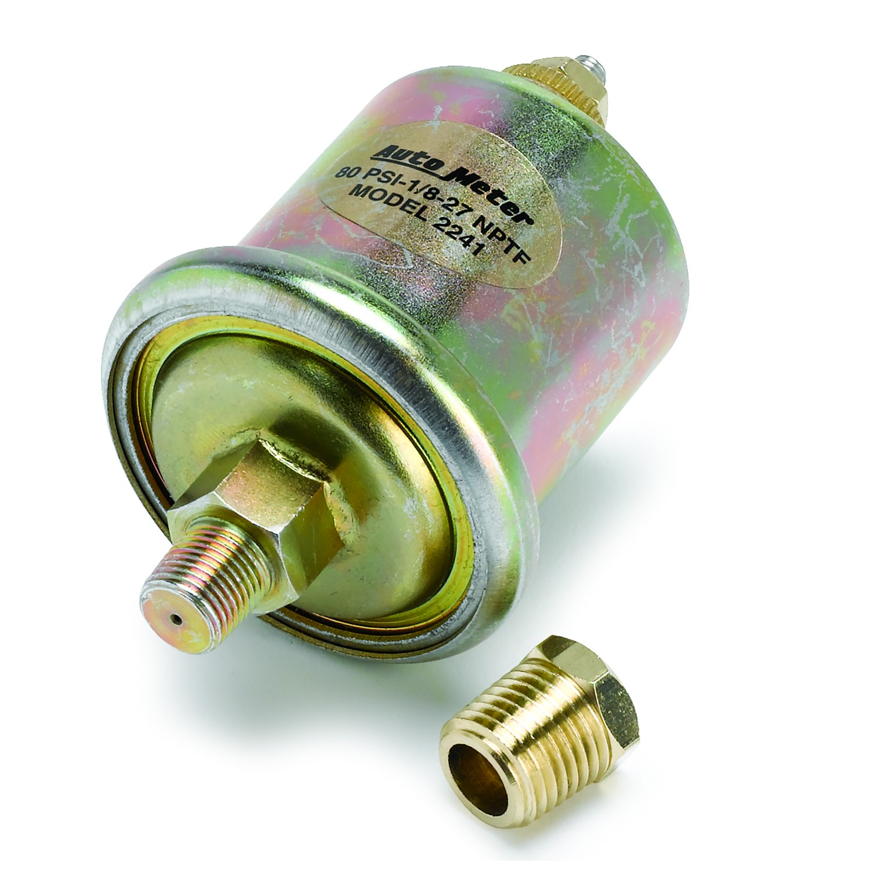 Electric Auto Meter AutoMeter 200747 Gauge 2 5//8 Oil Pressure 80Psi Marine White
