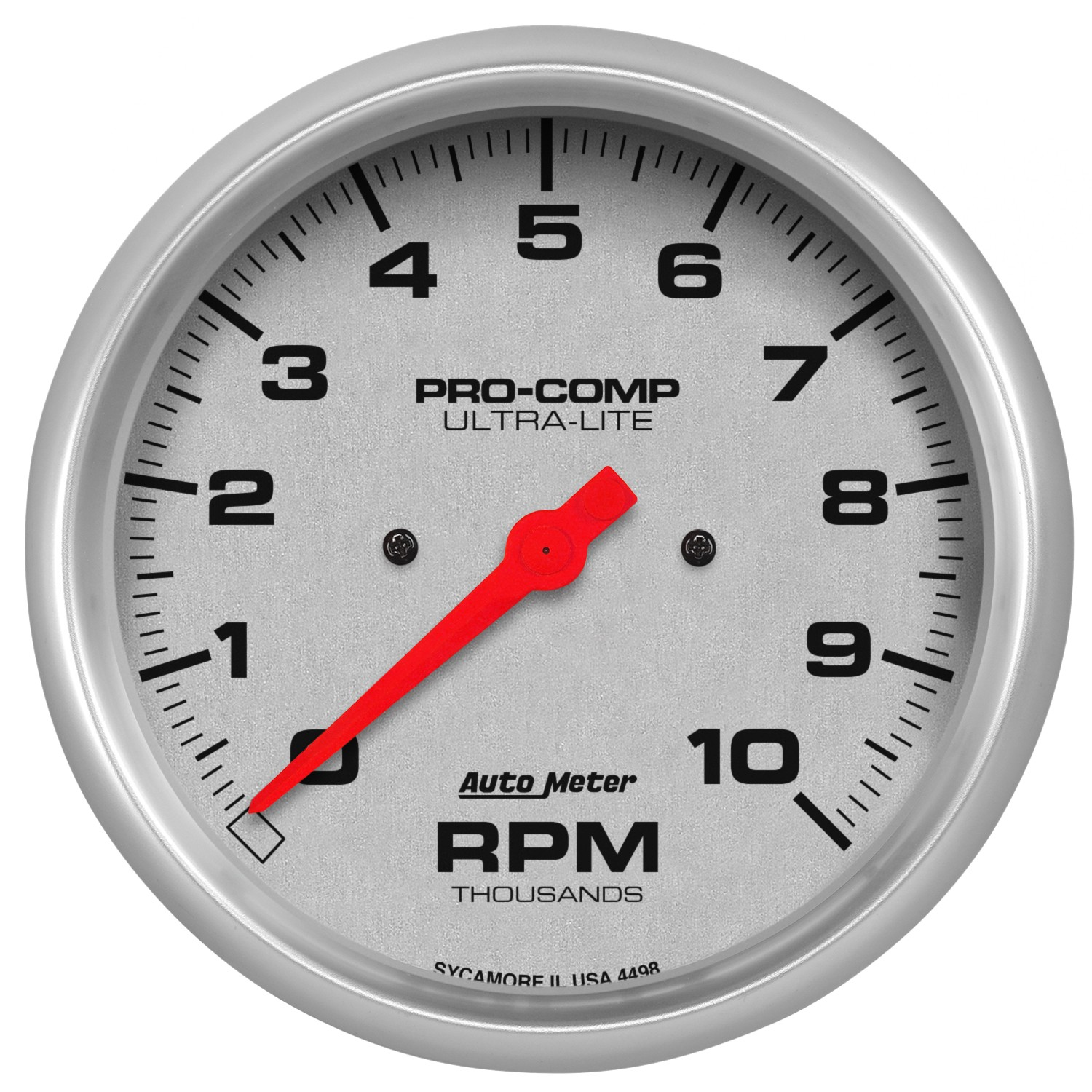 "Auto Meter 4498 Gauge Tachometer 5/"" 10,000 RPM In-Dash Ultra-Lite"