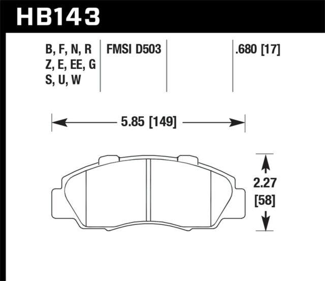 Hawk Disc Brake Pad Front For 91-05 Acura NSX / Honda